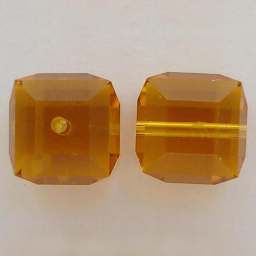 Swarovski 5601 4mm Cube Beads Topaz