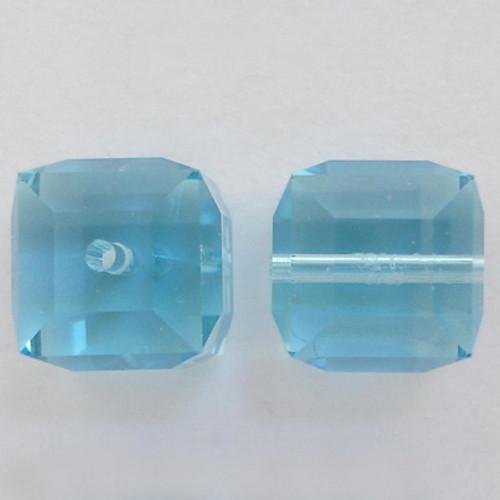 Swarovski 5601 6mm Cube Beads Aquamarine