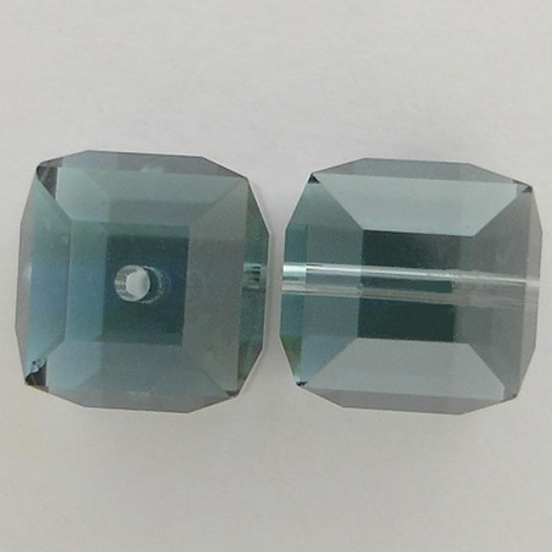 Swarovski Crystal 5601 6mm Cube Beads Aquamarine Satin