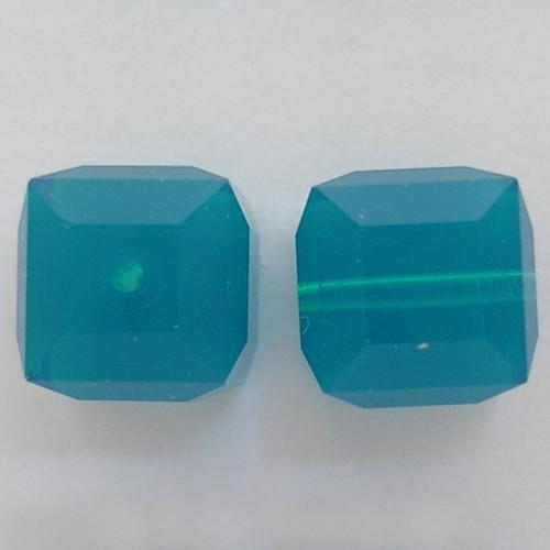 Swarovski 5601 6mm Cube Beads Caribbean Blue Opal