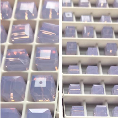 Swarovski 5601 6mm Cube Beads Violet Opal  (18 pieces)
