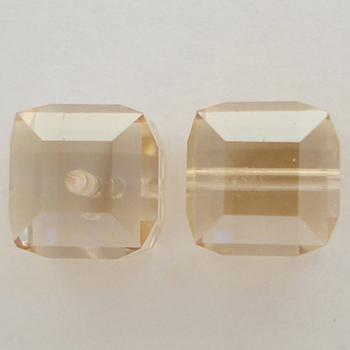 Swarovski 5601 8mm Cube Beads Crystal Golden Shadow