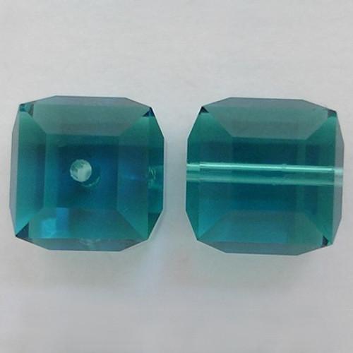 Swarovski 5601 8mm Cube Beads Indicolite