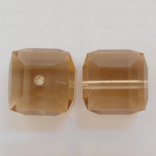 Swarovski 5601 8mm Cube Beads Light Colorado Topaz