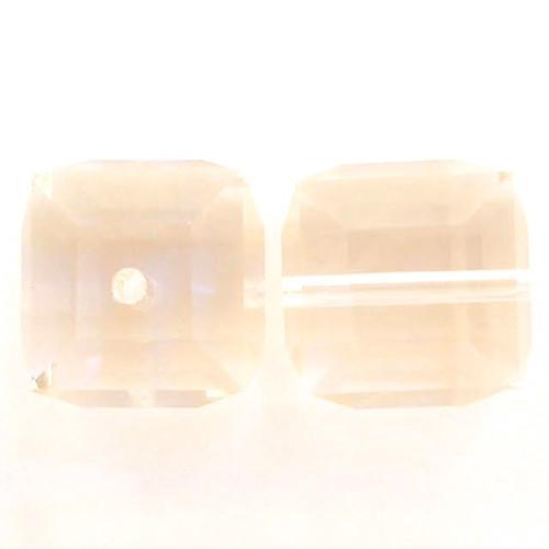 Swarovski 5601 8mm Cube Beads Light Peach