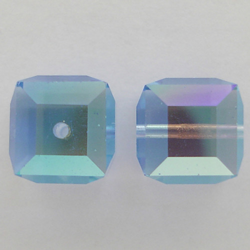Swarovski 5601 8mm Cube Beads Light Sapphire AB
