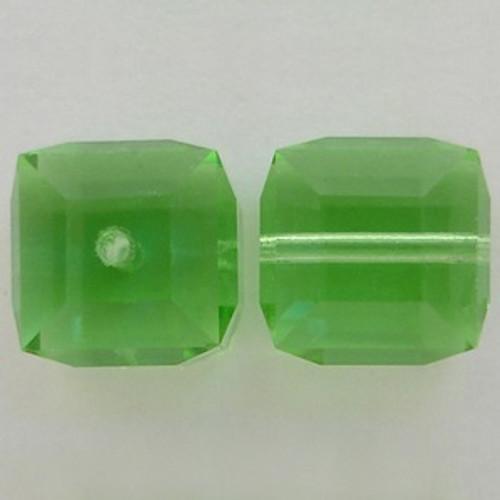 Swarovski 5601 8mm Cube Beads Peridot