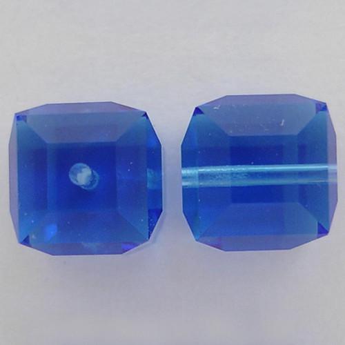 Swarovski 5601 8mm Cube Beads Sapphire