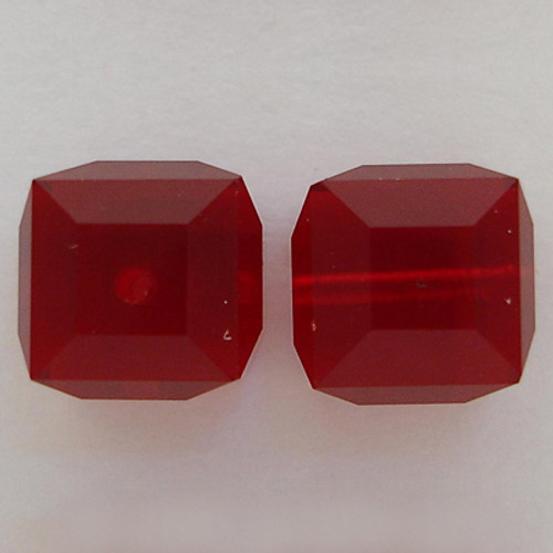 Swarovski 5601 8mm Cube Beads Siam