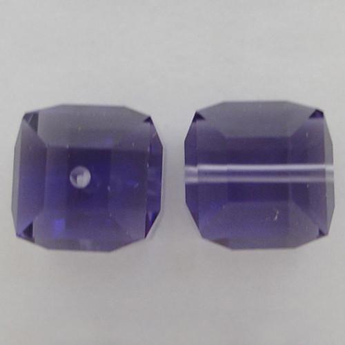 Swarovski 5601 8mm Cube Beads Tanzanite