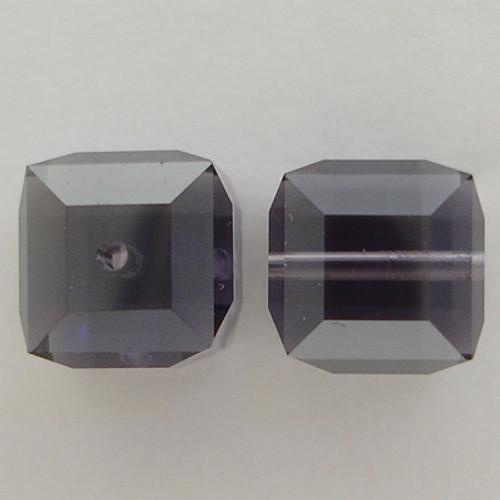 Swarovski 5601 8mm Cube Beads Tanzanite Satin