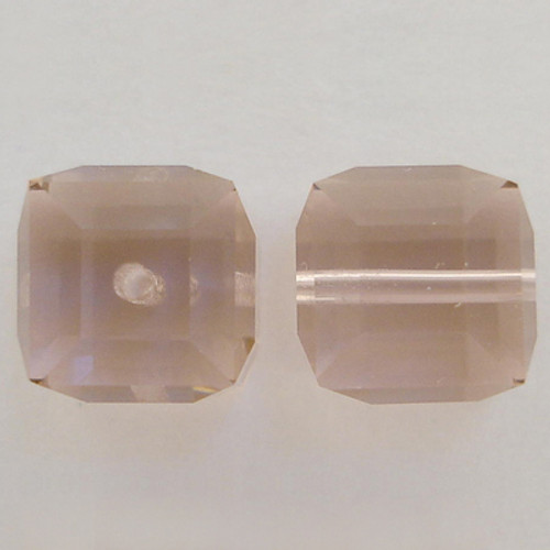 Swarovski 5601 8mm Cube Beads Vintage Rose