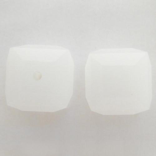 Swarovski 5601 8mm Cube Beads White Alabaster