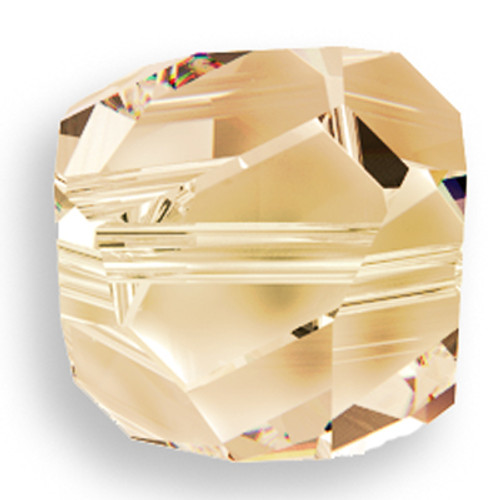 Swarovski 5603 8mm Graphic Cube Beads Crystal Golden Shadow