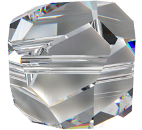 Swarovski 5603 6mm Graphic Cube Beads Crystal