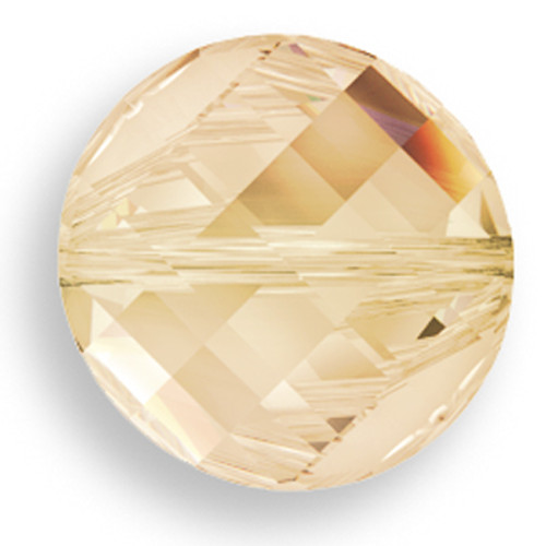 Swarovski 5621 14mm Twist Beads Crystal Golden Shadow