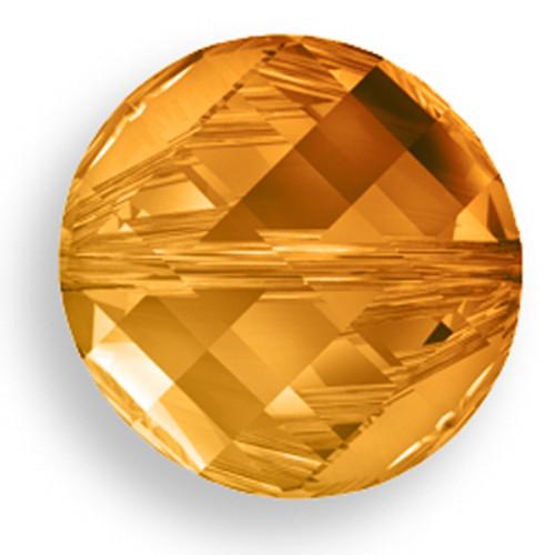Swarovski 5621 18mm Twist Beads Crystal Copper