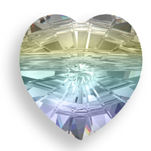 Swarovski 5742 10mm Heart Beads Crystal AB