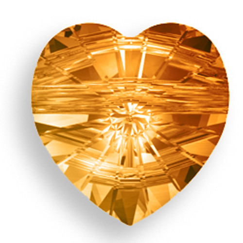 Swarovski 5742 14mm Heart Beads Crystal Copper