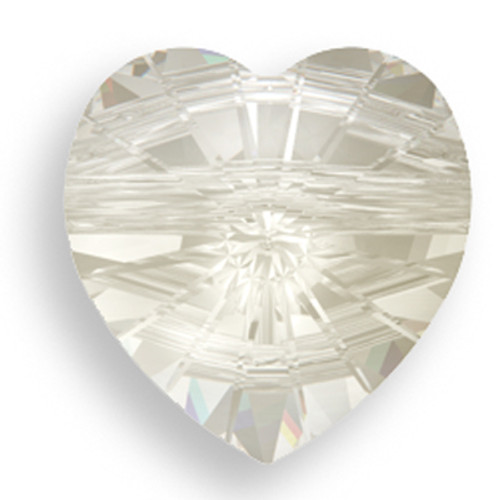 Swarovski 5742 14mm Heart Beads Crystal Silver Shade