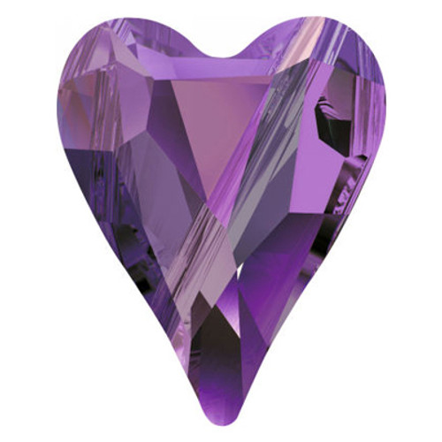 Swarovski 5743 12mm Wild Heart Beads Amethyst