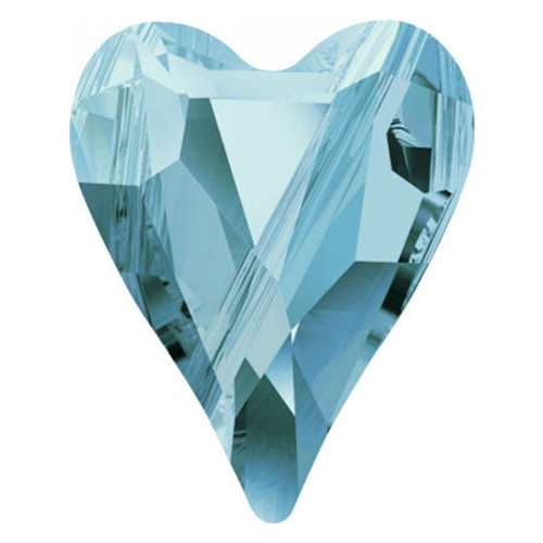 Swarovski 5743 12mm Wild Heart Beads Aquamarine