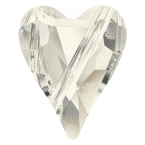 Swarovski 5743 12mm Wild Heart Beads Crystal Silver Shade