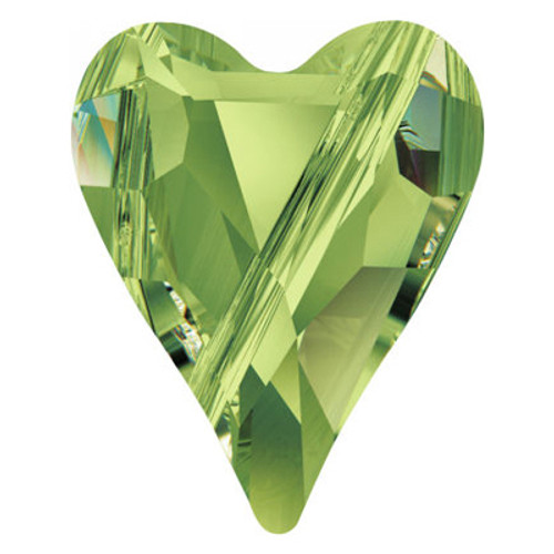 Swarovski 5743 12mm Wild Heart Beads Peridot