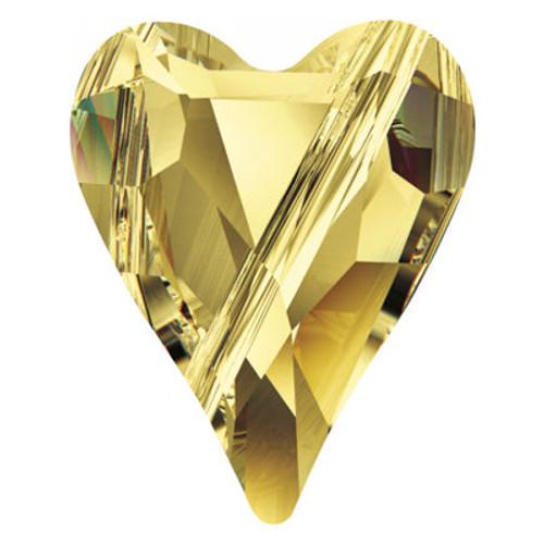 Swarovski 5743 17mm Wild Heart Beads Light Topaz