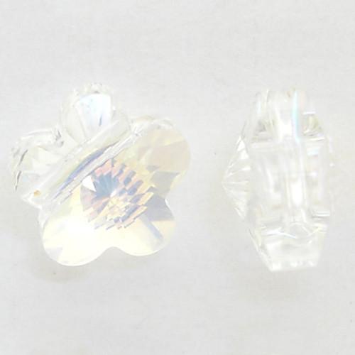 Swarovski 5744 8mm Flower Beads Crystal AB