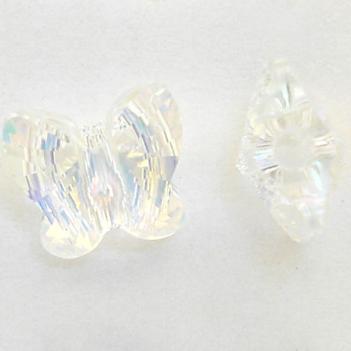 Swarovski 5754 10mm Butterfly Beads Crystal AB