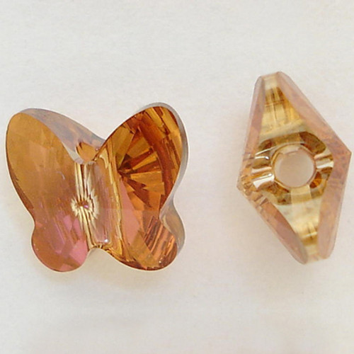Swarovski 5754 10mm Butterfly Beads Crystal Copper