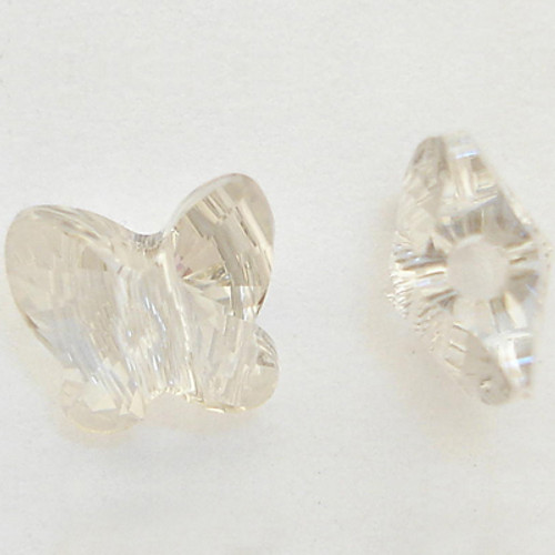 Swarovski 5754 6mm Butterfly Beads Crystal Silver Shade