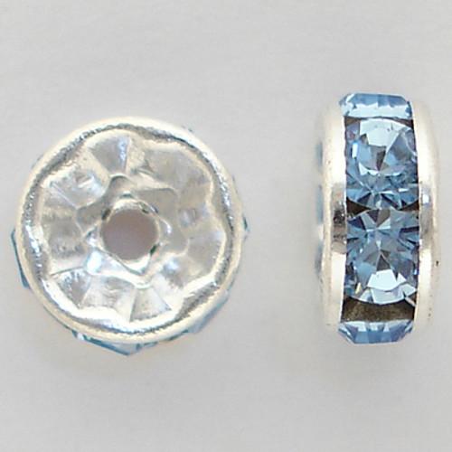 Swarovski 5820 6mm Rhinestone Rondelles Light Sapphire