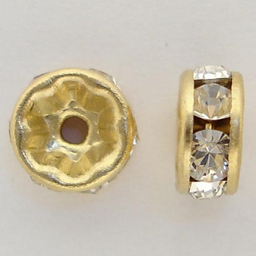 Swarovski 5820 7mm Rhinestone Rondelles Crystal