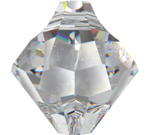 Swarovski 6301 6mm Top-drilled Bicone Crystal Verde