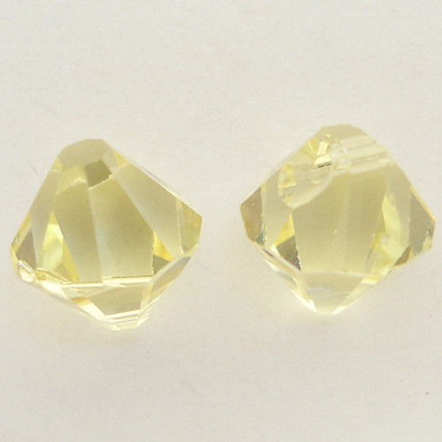 Swarovski 6301 8mm Top-drilled Bicone Jonquil