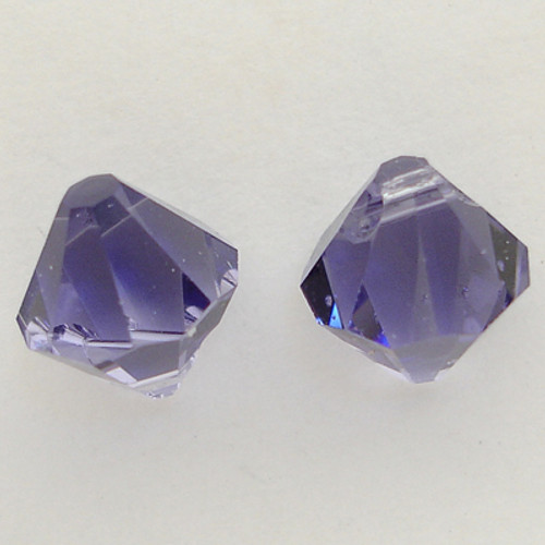 Swarovski 6301 8mm Top-drilled Bicone Tanzanite