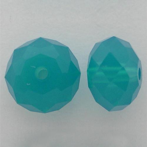 Swarovski 5040 6mm Rondelle Beads Caribbean Blue Opal