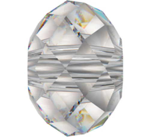 Swarovski 5040 6mm Rondelle Beads Light Grey Opal