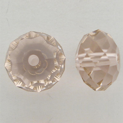 Swarovski 5040 6mm Rondelle Beads Vintage Rose