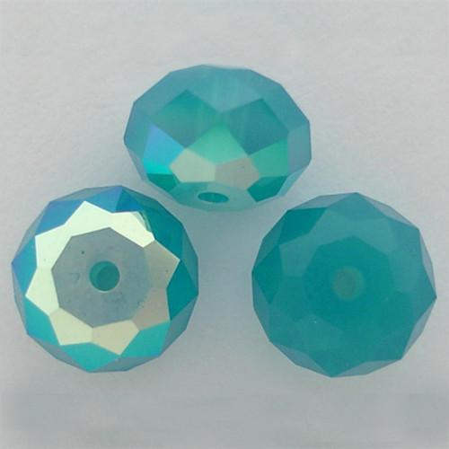 Swarovski 5040 6mm Rondelle Beads Caribbean Blue Opal AB