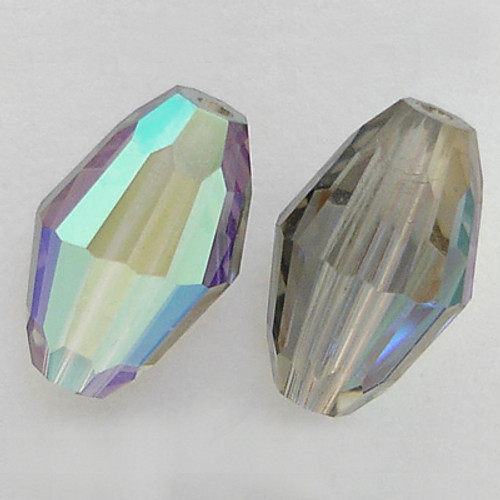 Swarovski 5200 9mm Oval Beads Black Diamond AB