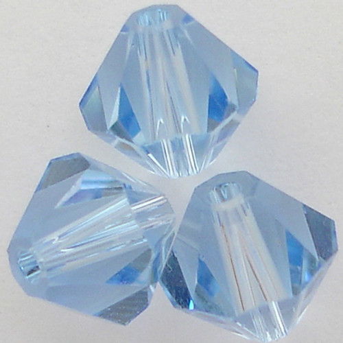 Swarovski 5328 4mm Xilion Bicone Beads Light Sapphire