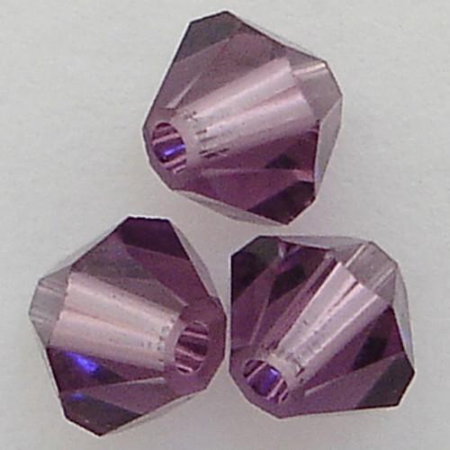Swarovski 5328 4mm Xilion Bicone Beads Lilac