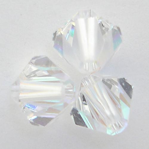 Swarovski 5328 4mm Xilion Bicone Beads Crystal AB