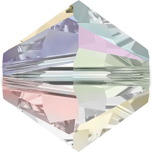 Swarovski 5328 4mm Xilion Bicone Beads Crystal AB 2X
