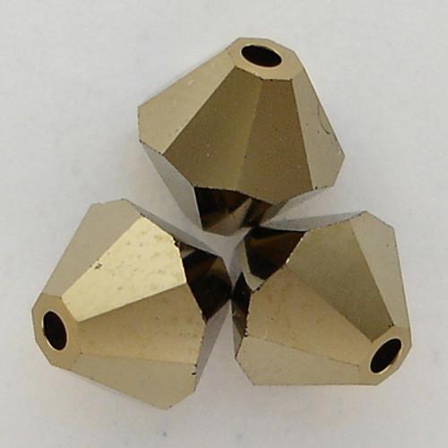 Swarovski 5328 4mm Xilion Bicone Beads Crystal Dorado 2X