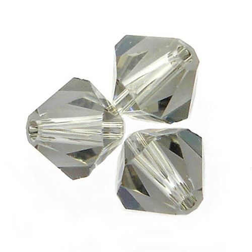 Swarovski 5328 6mm Xilion Bicone Beads Black Diamond