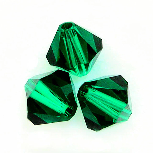 Swarovski 5328 8mm Xilion Bicone Beads Emerald
